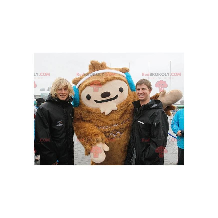 Vancouver maskot Quatchi hnědý yeti maskot - Redbrokoly.com