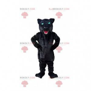 Brüllendes schwarzes Panther-Maskottchen, Katzenkostüm -