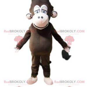 Maskot hnědá opice, kostým únavy, kostým šimpanze -