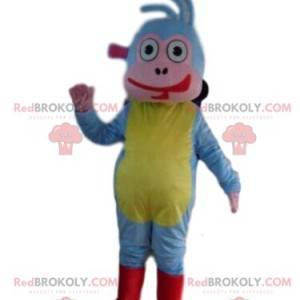 Babouche mascot, the famous colorful monkey companion of Dora -