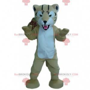 Tiger mascot, feline costume, giant puma disguise -
