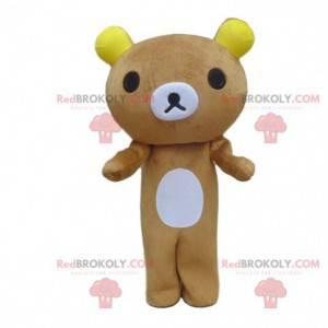 Teddy bear mascot, bear costume, brown teddy bear -