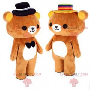 2 Teddybären, Teddybären-Maskottchen, romantisches Paar -