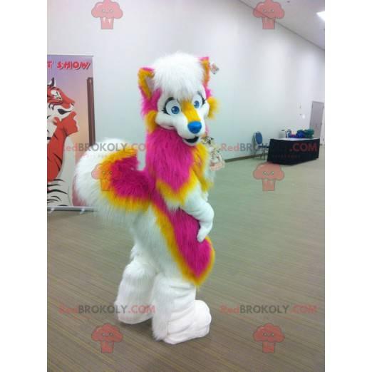 Yellow and white rose dog mascot - Redbrokoly.com