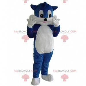 Maskot kočky, kostým kocoura, kostým modré kočky -