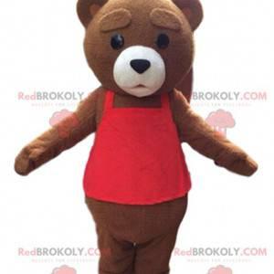 Velký hnědý medvídek maskot, medvěd hnědý kostým -