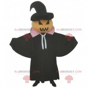 Mascote de abóbora de Halloween, fantasia de terror -