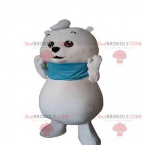 Malý maskot bílého medvěda, kostým ledního medvěda -