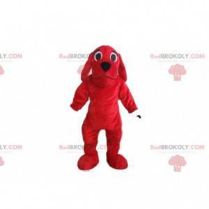 Maskot červený pes, pejsek kostým, červený převlek -