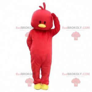 Maskotka czerwona laska, kostium czerwonego ptaka -