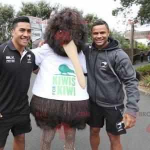 Maskottchen großen braunen Kiwi Vogel alle haarig -