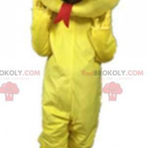 Mascote cobra amarela, fantasia de salamandra - Redbrokoly.com