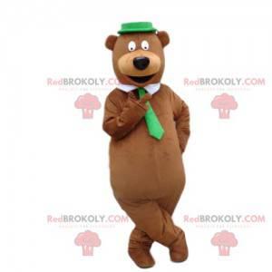Brown bear mascot, very elegant, teddy bear costume -
