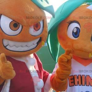 2 gigantiske oransje maskoter - Redbrokoly.com