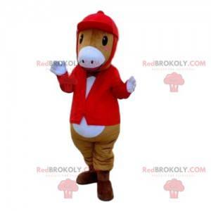 Pony maskot, kůň, jezdecký kostým - Redbrokoly.com