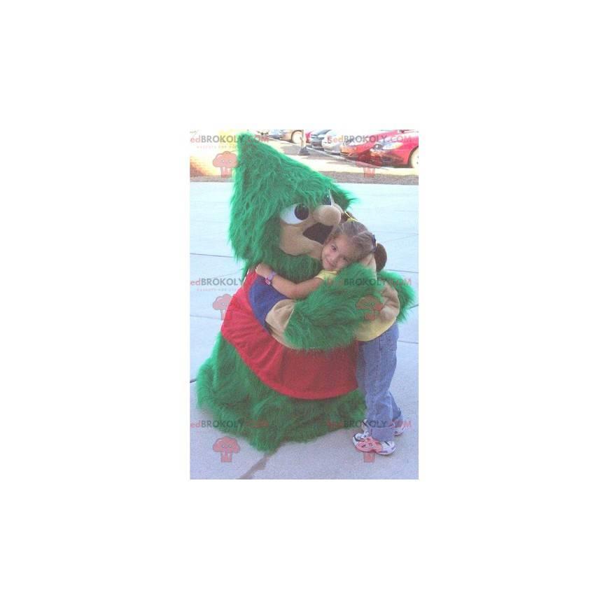 Všechny maskoty zelené a červené vánoční stromeček -