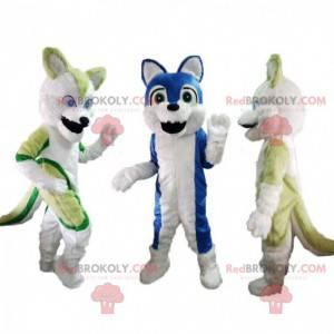 3 maskoti husky, kostýmy husky, kostýmy pro psy - Redbrokoly.com