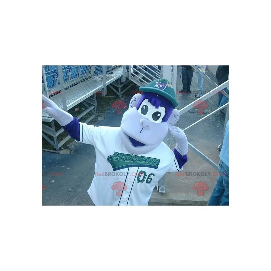 Modré a bílé opice maskot - Redbrokoly.com