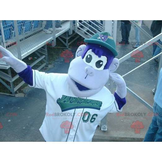 Blue and white monkey mascot - Redbrokoly.com