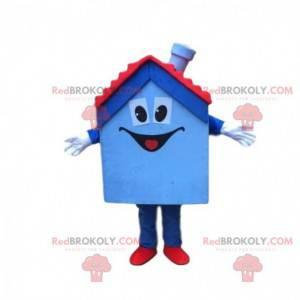 Modrý a červený dům, dům, rezidenční maskot - Redbrokoly.com