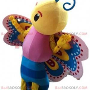 Vícebarevný maskot motýl, barevný kostým hmyzu - Redbrokoly.com