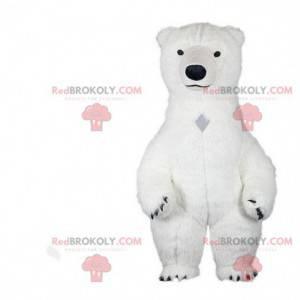 Maskot ledního medvěda, kostým ledního medvěda, bílý kostým -