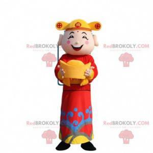 Azjatycki mężczyzna maskotka, bóg bogactwa - Redbrokoly.com