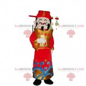 Asian man costume, god of wealth mascot - Redbrokoly.com