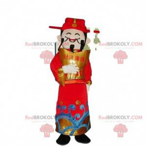 Asiatisches Mann Kostüm, Gott des Reichtums Maskottchen -