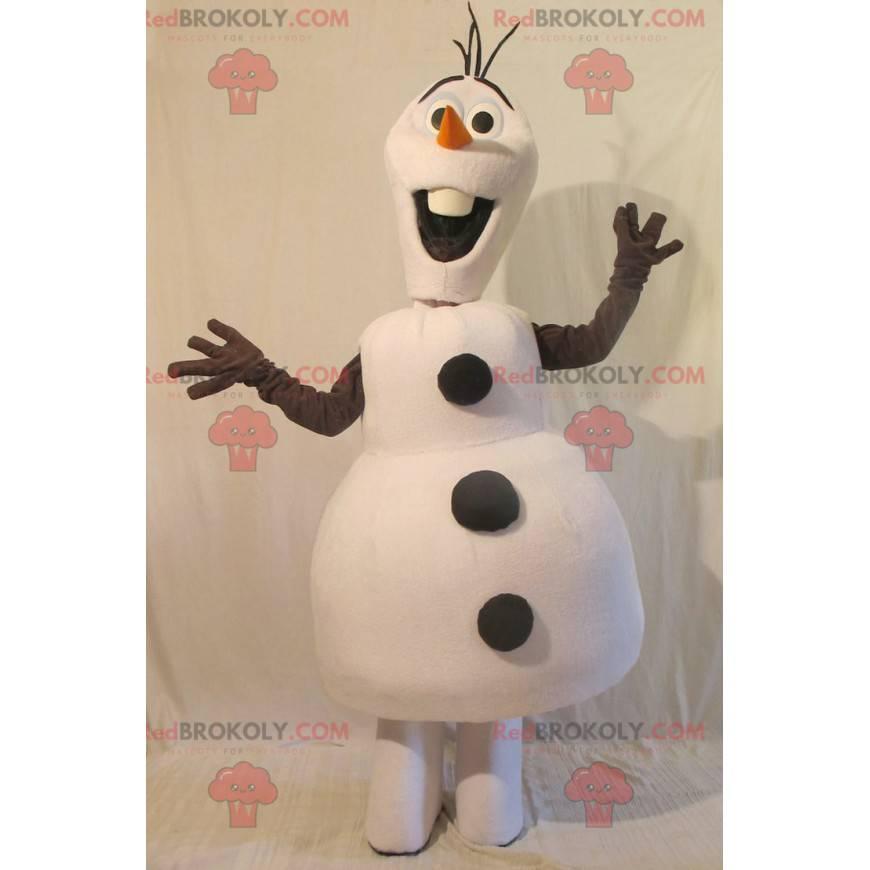 Všechny bílé a černé sněhulák maskot - Redbrokoly.com