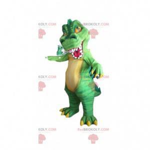 Dinosaurier-Maskottchen, T rex-Kostüm, gruselige Verkleidung -