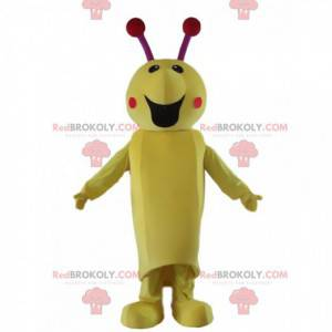 Insect mascot, caterpillar costume, giant yellow insect -