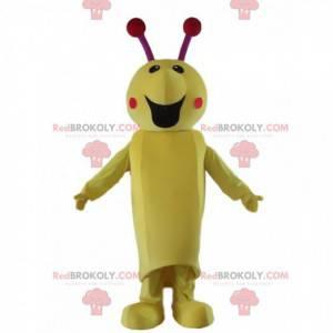 Insektenmaskottchen, Raupenkostüm, riesiges gelbes Insekt -
