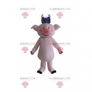 Pig mascot, sow costume, giant pink pig - Redbrokoly.com