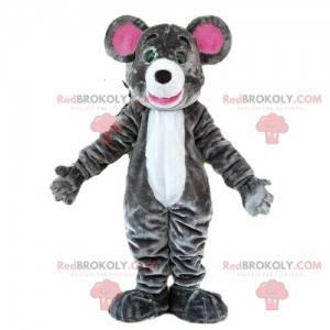 Szara myszka maskotka, kostium gryzonia, maskotka szczur -