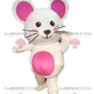 Maskot bílé myši, kostým hlodavce, obří myš - Redbrokoly.com