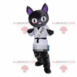 Maskot kočky, kostým judoka, kostým karateka - Redbrokoly.com