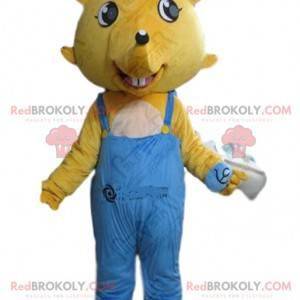 Żółta maskotka myszy, kostium szczura, kostium gryzonia -
