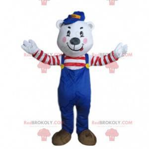 Polar bear mascot, polar bear costume, teddy bear costume -