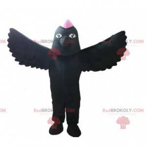 Maskot černý pták, havraní kostým, převlek ptáků -