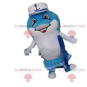 Delphin-Maskottchen, Delphin-Kostüm, weibliches Maskottchen -