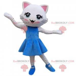 White cat mascot dress, cat costume - Redbrokoly.com