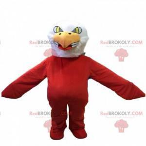 Maskot orla, kostým červeného ptáka, kostým supa -