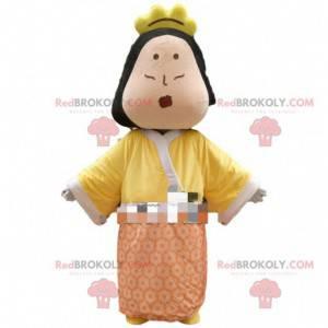 Crowned woman mascot, queen costume, princess - Redbrokoly.com