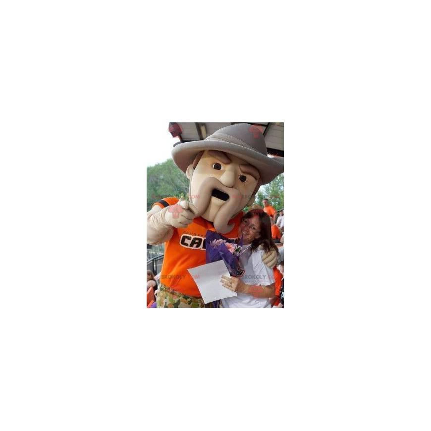 Maskot lesní strážce s velkým kloboukem - Redbrokoly.com