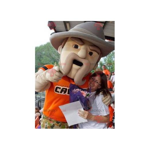 Forest ranger mascot with a big hat - Redbrokoly.com