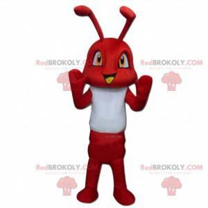 Maskotka czerwona mrówka, kostium owada, czerwony owad -