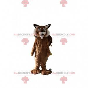 Tiger maskot, feline kostyme, gigantisk puma forkledning -