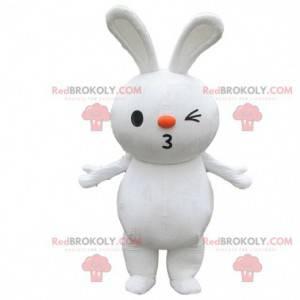 Duży biały królik maskotka, kostium gryzonia, królik -