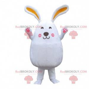 Großes weißes Kaninchenkostüm, Nagetiermaskottchen, Kaninchen -